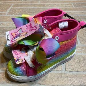 Jojo Siwa Pink Siwa Bow Shoes Rainbow High Tops